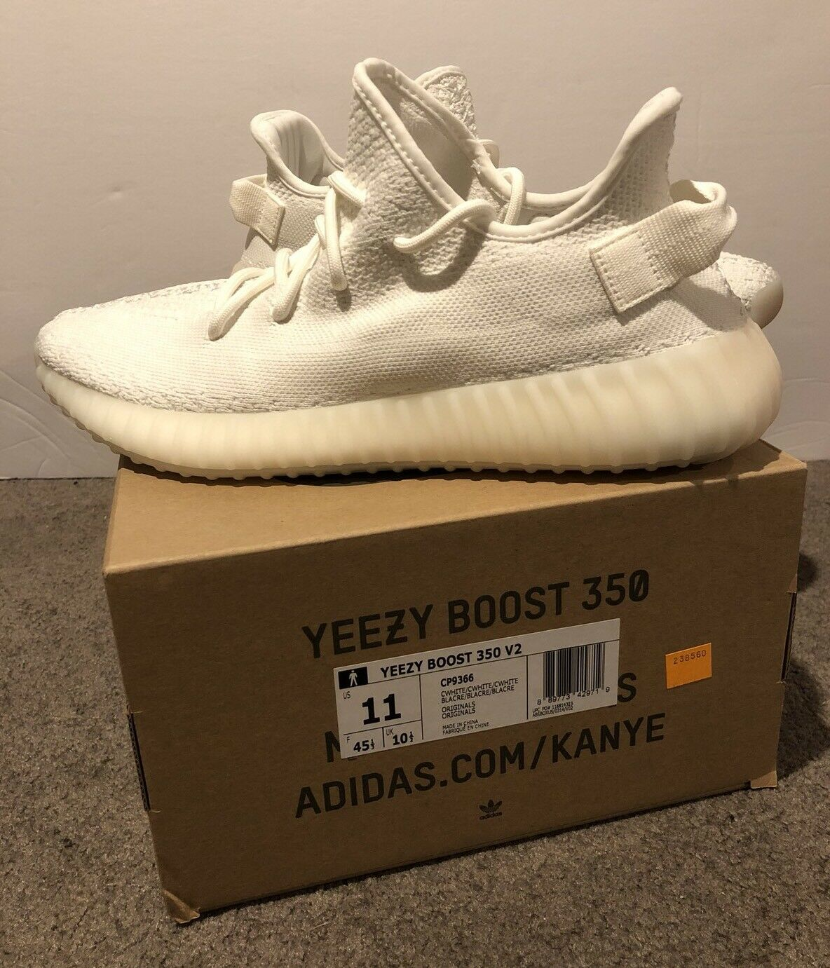 Adidas Yeezy Boost 350 V2 Cream White Size 11 NEW 100% Authentic FIRST RELEASE