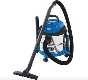 Nouveau Draper Wet /& Dry 15 L Hover Aspirateur 230 V en Acier Inoxydable Réservoir