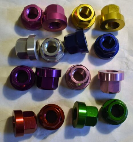 TNT Axle Nuts 38 in 26 tpi Aluminum for BMX Hybrid Cruiser Bike Choice of Color