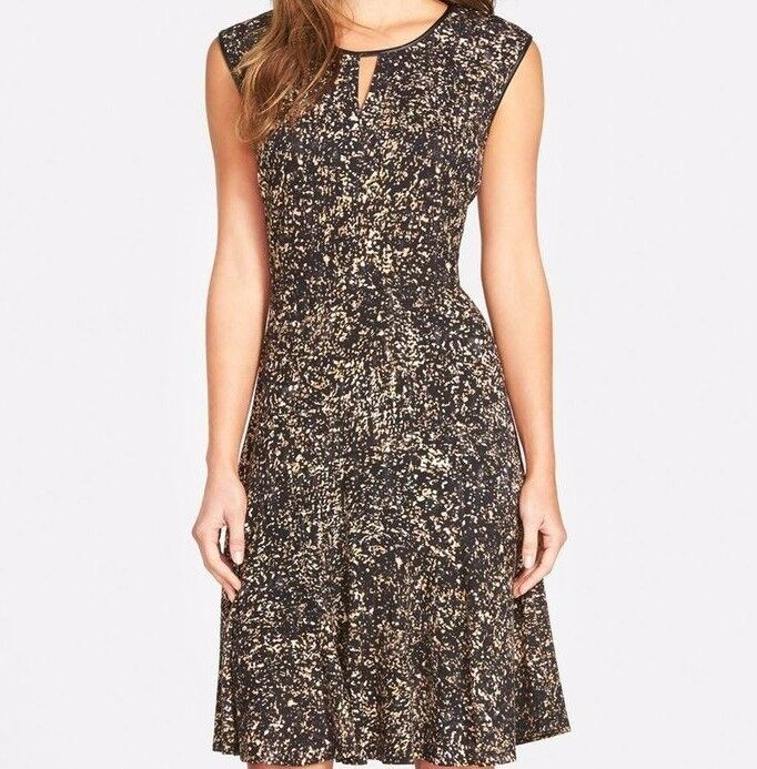 NWT NIC + ZOE WOMEN SzXS STARLING FIT AND FLARE FLARE FLARE SLEEVELESS DRESS MULTICOLOR  174 2619ad