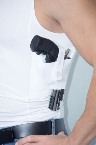AC UNDERCOVER CCW Tank Top Shirt Concealed Carry Clothing Holster Ref 513