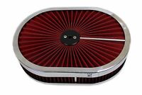 12 X 2 Chrome Aluminum Washable Top Lid Air Cleaner Oval Hot Street Rod