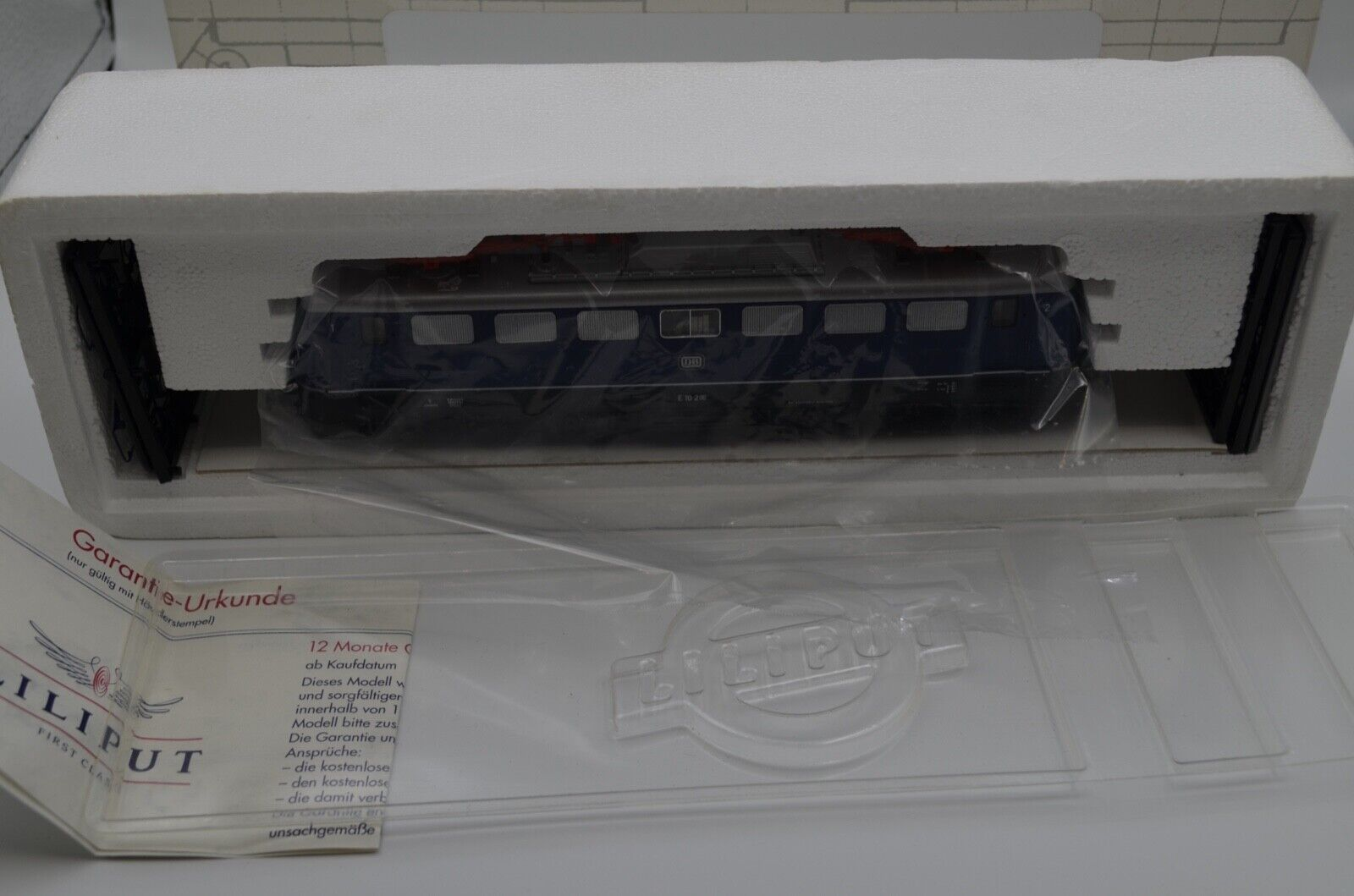 Liliput e-Lok e 10 216 DB 320610 h0 + embalaje original probablemente sin usar