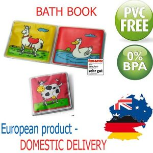 BATH-BOOK-Educational-Sound-Shower-Bath-Toy-Play-Baby-Toddler-PVC-FREE-Measure