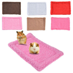 Cama-De-Peluche-Mascota-Cobaya-hamster-jaulas-Pequeno-Animal-Casa-Cama-Calida-Mat-Manta