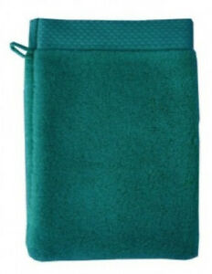 2-Garnier-Thiebaut-Gant-Mitt-Washcloth-FRENCH-TOWEL-New-ELEA-CANARD-Green
