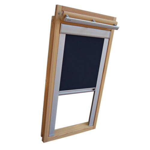 BSK dunkelblau Verdunkelungsrollo ALU Thermo für Blefa Dachfenster BL