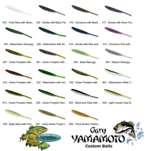 Yamamoto Senko 9S-10-150 Smoke with Black Flake 4 Inch Senko Lures 10 Per Pack