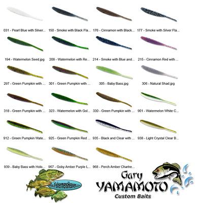 USA Import Gary Yamamoto Shad Shape Worm soft plastic lure 4inch 10cm 10x pack