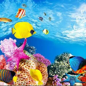 Decorations Systematic Aquarium Papier De Fond Image Hd 3d Tridimensionnel Fond D'ecran De Poisson J6g4