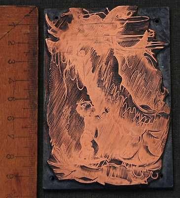 Kind Junge Galvano Druckstock Kupferklischee Druckplatte Eichenberg Bleisatz