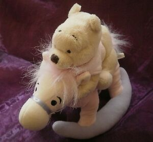 Doudou peluche winnie cheval bascule orse