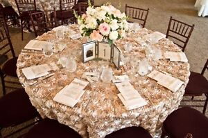 Image Is Loading 2 Round 132 034 Rosette Satin Tablecloths Grandiose