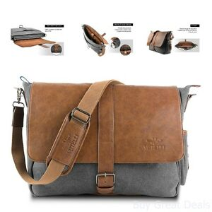 Vetelli Laptop Bag Shoulder Messenger Bag w  Scratch Protect Sleeve ... c17a28e12df6f