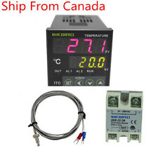Inkbird ITC-100VH PID Digital Temperature Controller Thermostat 25 SSR heater CA