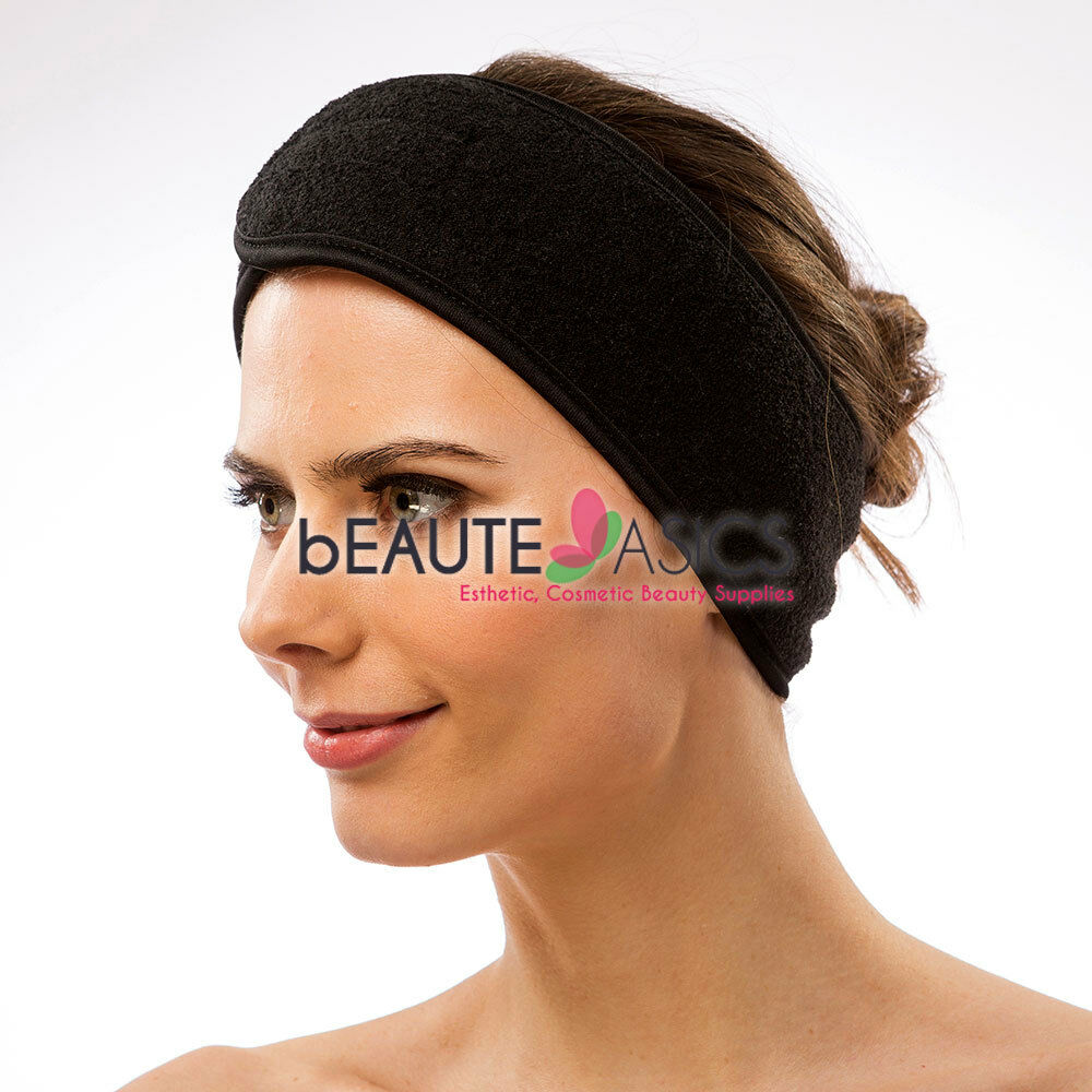 Spa Facial Headband Makeup Wrap Head Terry Cloth Headband Stretch Head Band KV