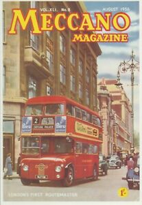 Meccano-Magazine-Cover-August-1956-London-039-s-First-Routemaster-Bus-Unused-Card
