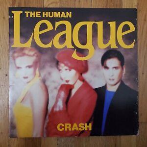 The Human League  Crash 1986 VG+ Vinyl LP VG+ Gatefold Record Cover A&M SP-5129