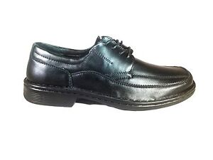 MENS-LACE-UP-BLACK-GROSBY-LEATHER-WORK-AND-SCHOOL-SHOES-ALL-SIZES