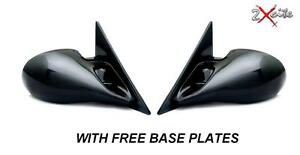 BLACK-M3-MANUAL-DOOR-WING-MIRRORS-BMW-E36-3-SERIES-4-DOOR-SALOON-BASE-PLATES
