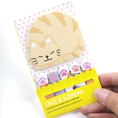 BEST ANIMAL CAT CUTE KAWAII MEMO STICKY NOTE PLANNER STICKER PAPER BOOKMAR