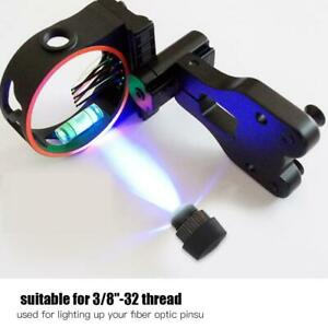 Compound-Bow-Sight-Light-LED-3-Levels-Violet-Color-Adjustable-3-8-32-Thread-New