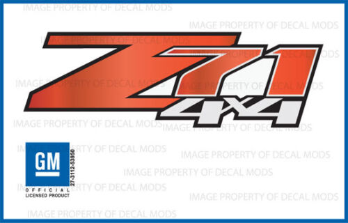 set of 2 Z71 4x4 Chevy Silverado 07-13 Decals Stickers Fade Red Tomato GRTMTO