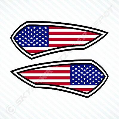 United States Flag Sticker Set Vinyl Decal American Flag Badge For Ford F150 Ram