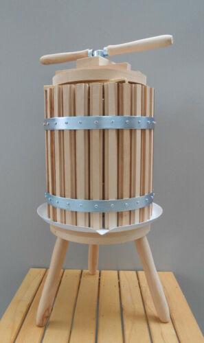 Wine Press 30 Liters 8 Gallon Fruit Crusher Wine Making Juicer Oak Wood