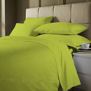 Image Is Loading 3 Piece Plain Dyed Duvet Quilt Cover Bedding