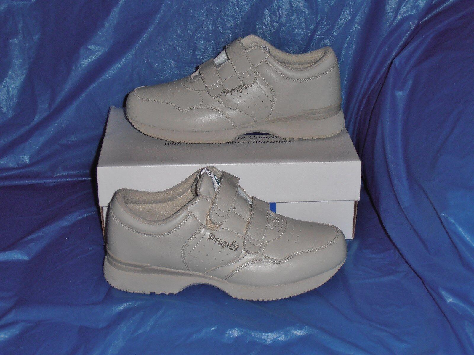 Propet M3705 Mens Dual Strap  Lite Walking Shoe,Bone  7 X  ( EEE )