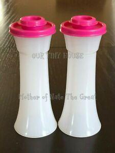 Tupperware Hourglass Salt and Pepper Shakers White