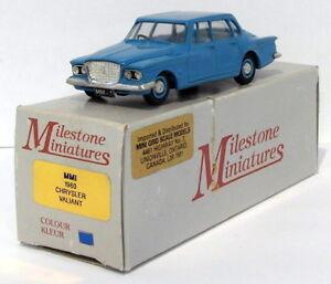 Milestone-Miniatures-1-43-Scale-MM1-1960-Chrysler-Valiant-Blue