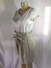 Manoukian Anthropologie Linen Cotton Wear to Work Shirt/Skirt Dress- Size Medium