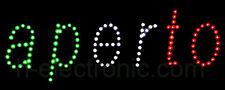 LED Schild Aperto Leuchtreklame geöffnet Open Schilder Offen Blink Neon Leucht
