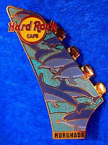 Hurghada-Egipto-Red-Sea-Delfines-Global-Guitarra-Cabeza-Serie-Hard-Rock-Cafe-Pin
