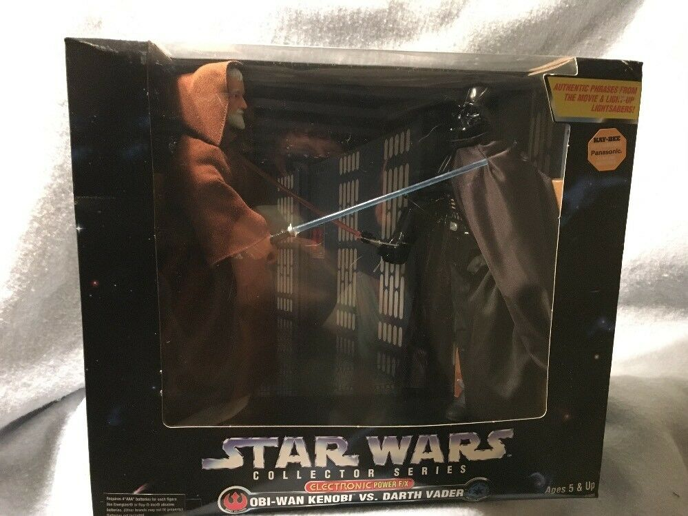STAR WARS 12 INCH COLLECTOR SERIES ELECTRONIC POWER F/X DARTH VADER VS OBI-WAN