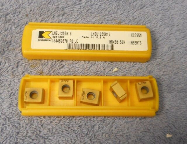 Kennametal Carbide  Inserts LNEU1245r32 KC725M Pack Of 5