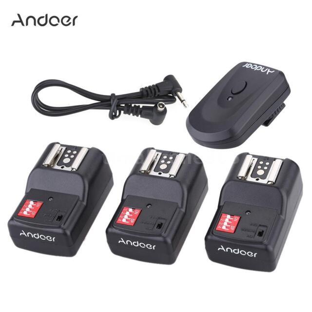Andoer 16 Channel Wireless Remote Flash Trigger Set 1 Transmitter + 3 B1C4