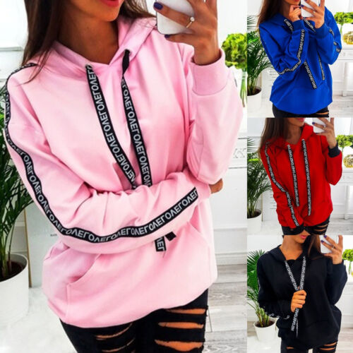 Womens Hoodies Hooded Sweatshirt Ladies Warmer Pullover Jumper Tops Plus Size