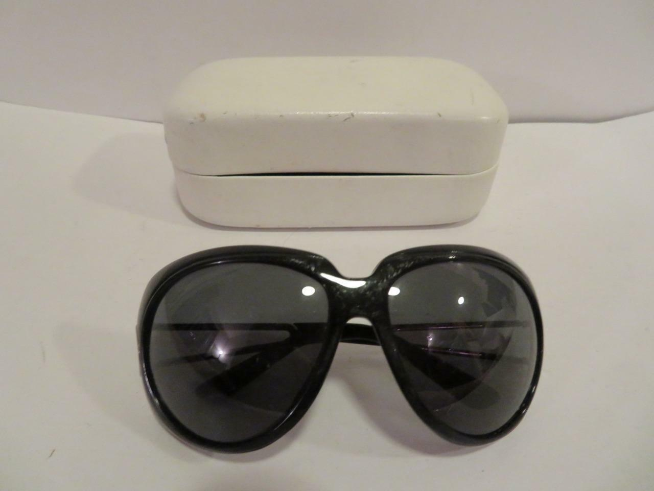 WOMENS MARC JACOBS BLACK & SILVER HARDWARE FRAME/BUTTERFLY SUNGLASSES W/CASE