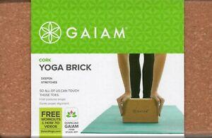 4fbc192706aa6 Image is loading Gaiam-Yoga-Block-Eco-cork