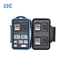 JJC MC-STM18  Memory Card Case fits 6 SD 6 MSD 2 SIM 2 Micro SIM 2 Nano SIM