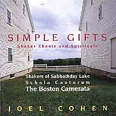 Simple Gifts: Shaker Chants and Spirituals : Joel Cohen (CD, Sep-1995, Erato (US