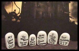 Dollhouse Miniature 1:12 scale Set of 6 Halloween Haunted Tombstones FA79007