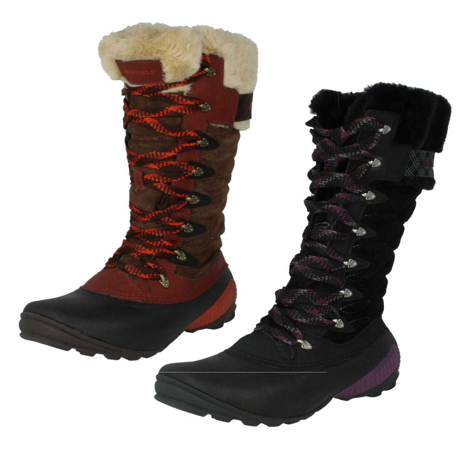 Zapatos especiales con descuento MUJER MERRELL WINTERBELLE PEAK IMPERMEABLE MEDIA CAÑA BOTAS DE NIEVE J68106/