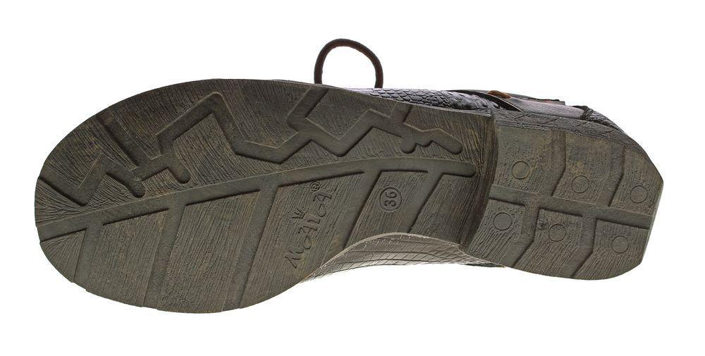 Mujer Confort Cuero Natural Estampado Mitad Zapatos Tma 1818 Reptil Estampado Natural Cordones e0e3ad