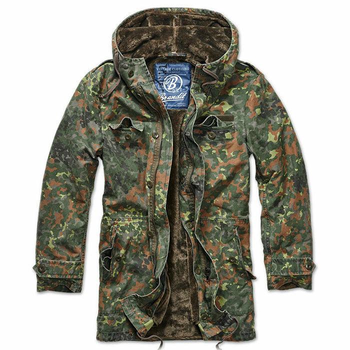 Brandit 3137 caballeros BW  Parquea m. grandes capucha armme militar invierno Chaqueta Camuflaje  minoristas en línea