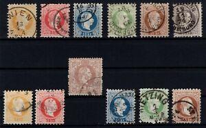 P130282-AUSTRIA-STAMPS-LOT-CLASSICS-1867-1880-USED-CV-268
