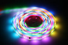 LED 5M RGB Digital Flexible Strip Tape Light Colour Chasing + IR Remote & PSU